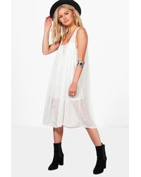 Boohoo - White Adrienne Strappy Dress - Lyst