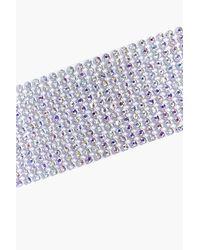 Boohoo - Metallic Wide Diamante Choker - Lyst