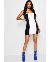 Boohoo Bandeau Contour Bodycon Dress in Black - Lyst 507890a62