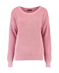 Boohoo - Pink Katherine Oversized Jumper - Lyst