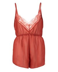 Boohoo - Multicolor Chiffon And Lace Teddy - Lyst