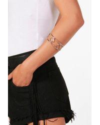 Boohoo - Metallic Diamond Detail Arm Cuff - Lyst