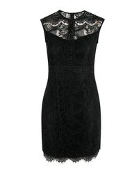Boohoo | Black Louise Pannelled Detail Bodycon Dress | Lyst