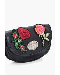 Boohoo - Black Ella Embroidered Western Bag Belt - Lyst