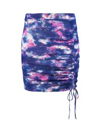 Boohoo - Multicolor Festival Tie Dye Rouched Mini Skirt - Lyst