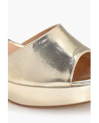 Boohoo Metallic Lillie Peeptoe Platform Heel