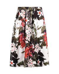 Boohoo - Multicolor Plus Lottie Floral Midi Skater Skirt - Lyst