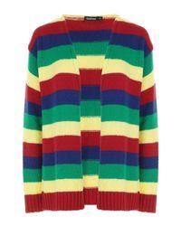 Boohoo - Yellow Rainbow Soft Knit Cardigan - Lyst
