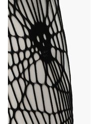 1f7f5ce342167 Boohoo Plus Halloween Skeleton Fishnet Tights in Black - Lyst