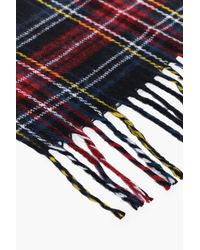 Boohoo - Sophie Black Check Brushed Scarf for Men - Lyst