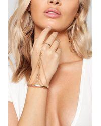 Boohoo - Metallic Stud Detail Hand Harness - Lyst