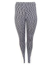 Boohoo - Gray Plus Lucy Contrast Panel Gym Legging - Lyst