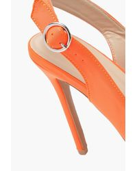 Boohoo - Orange Sling Back Pointed Court Shoes - Lyst