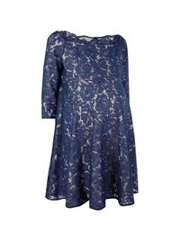 Boohoo - Blue Maternity Abbie Eyelash Lace Off The Shoulder Skater Dress - Lyst
