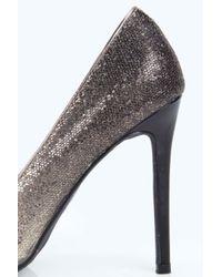 Boohoo - Metallic Eva Ombre Glitter Pointed Court Heels - Lyst