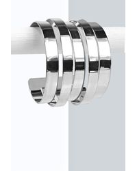 Boohoo | Metallic Lizzie Panelled Arm Cuff | Lyst