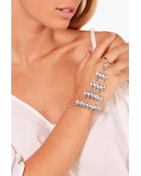 Boohoo | Metallic Statement Diamante Hand Harness | Lyst