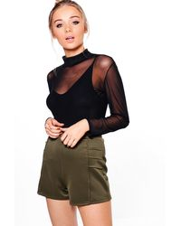 Boohoo - Multicolor Louise Pleat Side Detail Shorts - Lyst