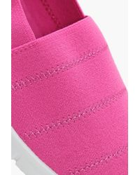 Boohoo - Pink Melissa Elastic Stretch Slip On Pump - Lyst