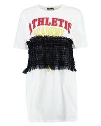 Boohoo - White Shearing Printed T-shirt Dress - Lyst