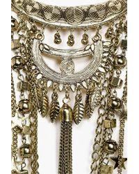 Boohoo - Metallic Lucy Statement Plunge Star Detail Necklace - Lyst