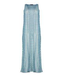 Boohoo | Blue Mila Zig Zag Print Kimono | Lyst