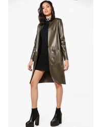 Boohoo - Multicolor Jenna Vegan Leather Edge To Edge Jacket - Lyst