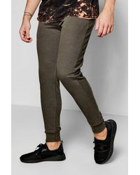 Boohoo   Green Pique Joggers In Skinny Fit for Men   Lyst
