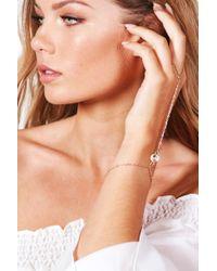Boohoo - Multicolor Jessica Stone Detail Hand Harness - Lyst
