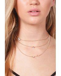 Boohoo - Metallic Sophia Diamante Chain Layered Choker - Lyst