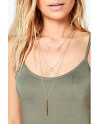 Boohoo - Metallic Maria Moon And Shape Choker 3 Pack - Lyst