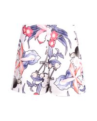 Boohoo - Multicolor Ellie High Waisted Floral Print Shorts - Lyst