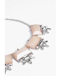 Boohoo - Metallic Connie Statement Jewelled Necklace - Lyst