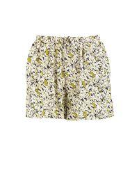 Boohoo - Green Runa Floral Flippy Shorts - Lyst