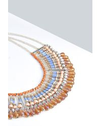 Boohoo - Metallic Serena Beaded Statement Necklace - Lyst