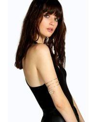 Boohoo - Metallic Amelia Spiral Arm Cuff - Lyst