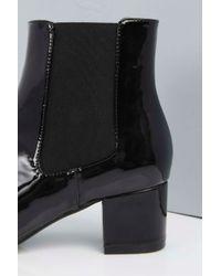 Boohoo - Black Isla Block Heel Boot - Lyst