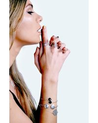 Boohoo - White Boutique Sterling Silver Oval Moonstone Ring - Lyst