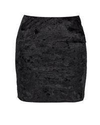 Boohoo - Black Avery Crushed Velvet Bodycon Mini Skirt - Lyst
