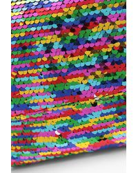 Boohoo - Pink Rainbow Sequin Structured Cross Body - Lyst