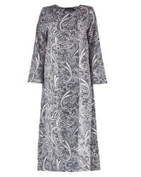 Boohoo - Black Jess Paisley Maxi Beach Kimono - Lyst