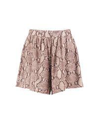 Boohoo - Multicolor Josie Border Print Flippy Shorts - Lyst