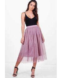b75aa8c5ce Lyst - Boohoo Boutique Montana Knee Length Full Tulle Midi Skirt in ...