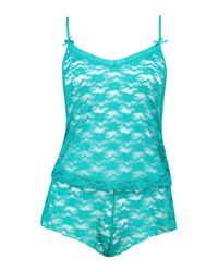 Boohoo - Blue Beatrice Pretty Lace Teddy - Lyst
