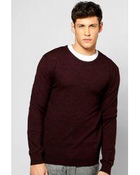 Boohoo | Purple V-neck Merino Wool Jumper for Men | Lyst