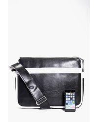Boohoo | Black Monochrome Pu Cross Body Bag for Men | Lyst
