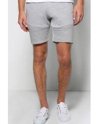 Boohoo - Gray Slim Fit Biker Shorts for Men - Lyst