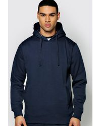 Boohoo - Blue Over The Head Hoodie for Men - Lyst