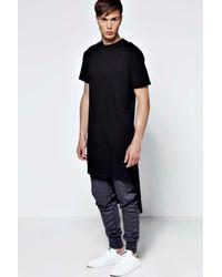 Boohoo - Black Extreme Longline Crew Neck T Shirt for Men - Lyst