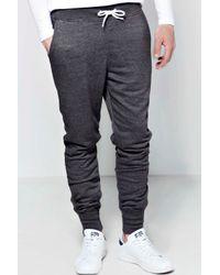 Boohoo - Gray Boohooman Skinny Joggers for Men - Lyst